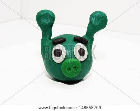 Green Animal Face