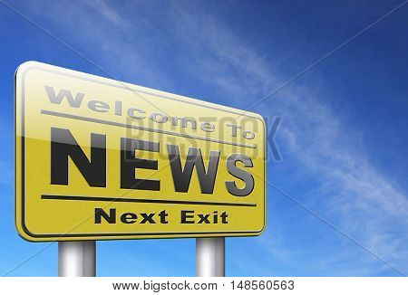 hot and latest news bulletin breaking new information 3D, illustration