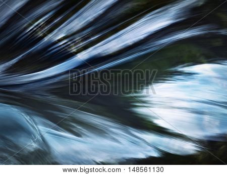 abstract background blur veil on the waves of the river