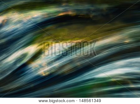 abstract background detail autumn wave on the river