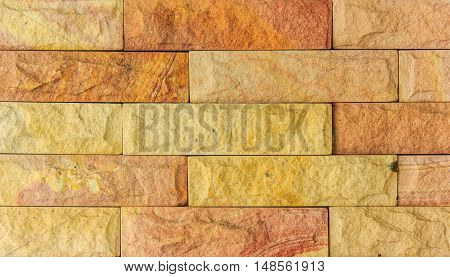 Background of old vintage brick wall for background