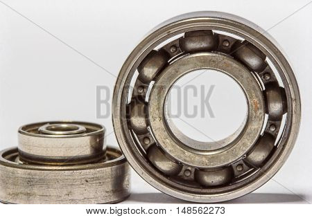 closeup. ball bearings. isolated on white background