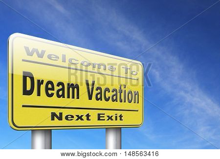 dream vacation travelling towards holiday destination summer winter or spring vacations to exotic paradise places travel the world and enjoy life 3D, illustration