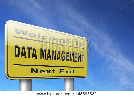 data management storage analysis and integration of big data 3D, illustration