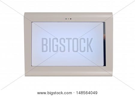 monitor of the medical device isolated on white background
