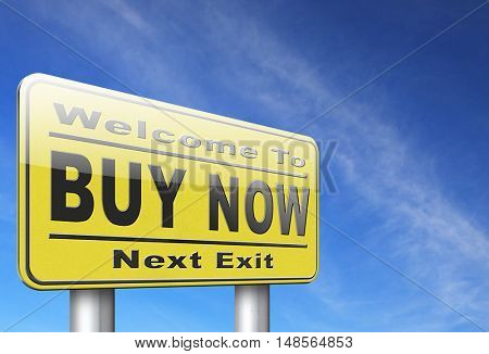 Buy now sign and here online sales sell on internet shop online shop buy and add to cart sign shopping webpage. 3D, illustration