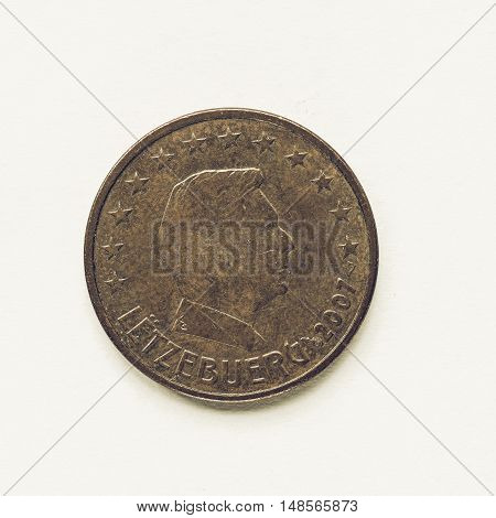 Vintage Luxembourg 5 Cent Coin