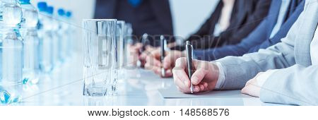 Taking Notes At Meeting