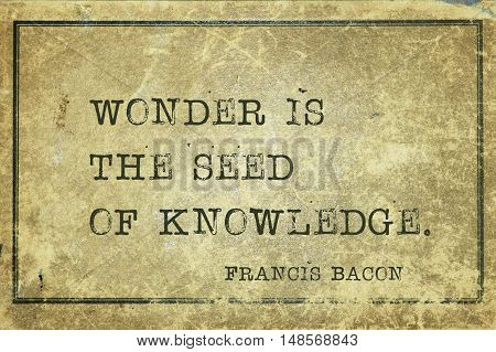 Wonder Is Seed Bacon