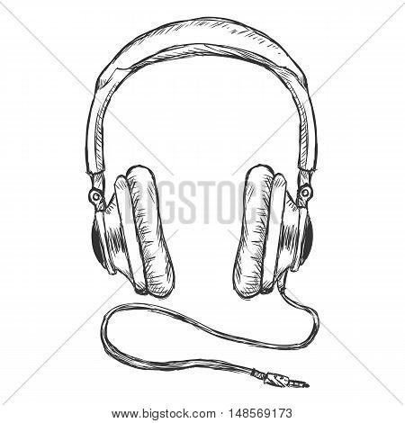 Vector Single Sketch Circumaural Headphones With Wire