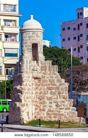 Havana, Cuba - April 2, 2012: Remaining Of Old City Wall