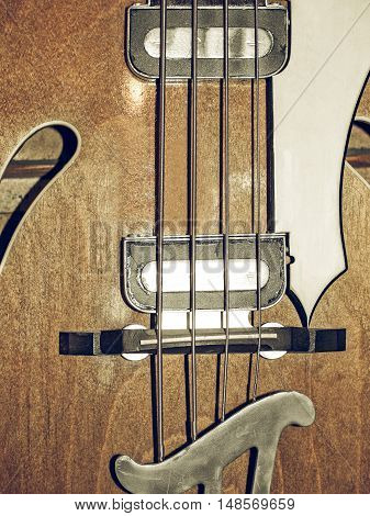 Vintage Looking Bass