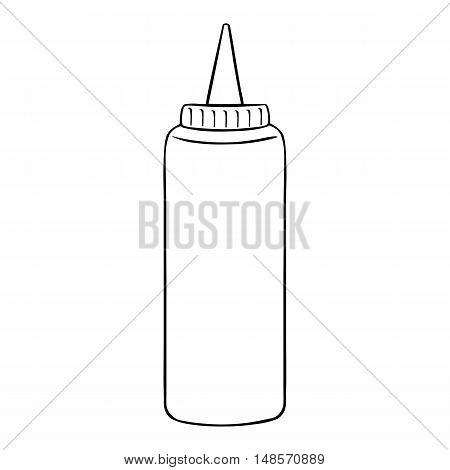 Vector Single Line Art Fast Food Plastic Bottle