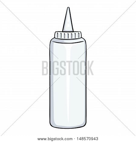 Vector  Cartoon White Plasticbottle With Mayo