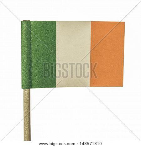 Vintage Looking Irish Flag