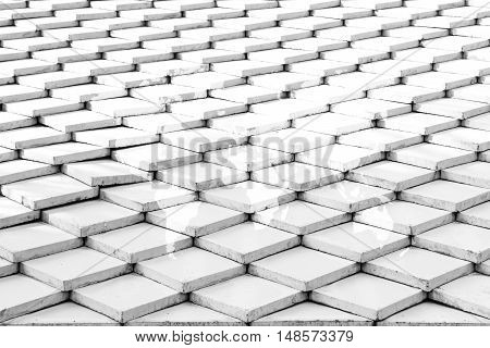 Tile Roof Texture Surface With World Map