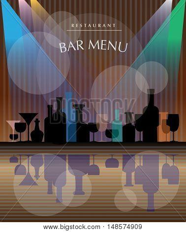 Restaurant drink menu poster or illustration, vector