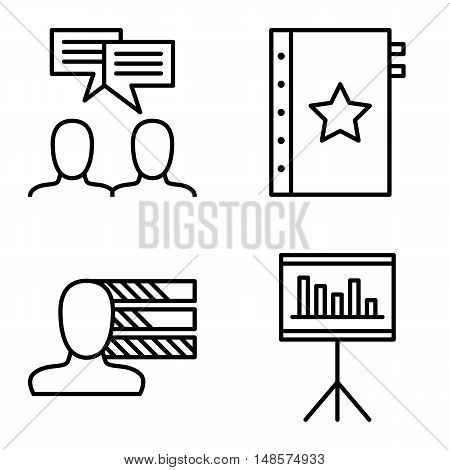 Set Of Project Management Icons On Personality, Idea Brainstorming And Quality Management. Project M
