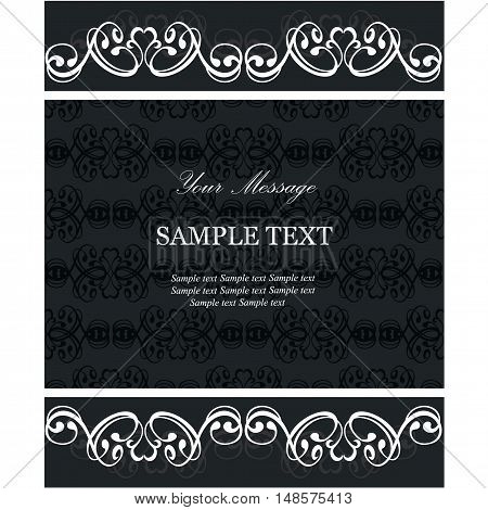 Invitation or announcement floral card. Vector illustration