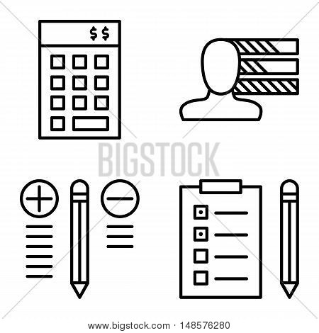 Set Of Project Management Icons On Personality, Best Solution And Task List. Project Management Vect