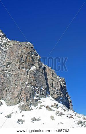 Rock Outcrop Against Blue Sky