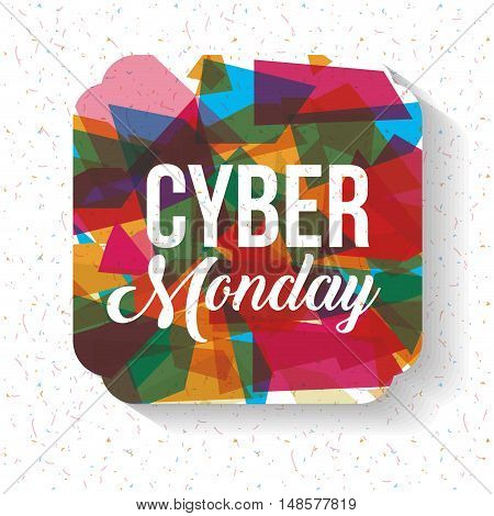 Cyber Monday and frame icon. ecommerce sale decoration and advertising theme. Colorful design. Vector illustration