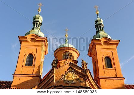 Cathedral church of Saint Lawrence on Petrin Hill in Prague. It is the principal church of the Old Catholic Church of the Czech Republic.