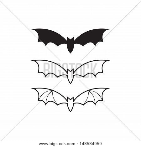 Vector Black Bat, Icon Or Logo