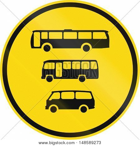Temporary Road Sign Used In The African Country Of Botswana - Buses, Midi-buses And Mini-buses Only