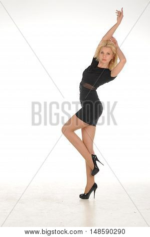 beautiful young blonde fashion women posing in studio