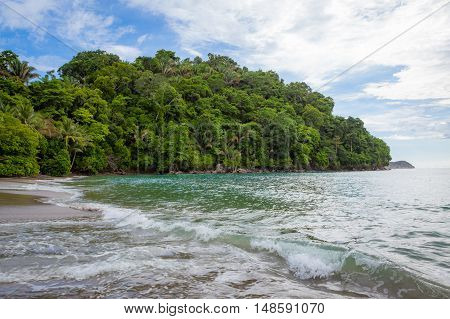 Sand beach and forest at Manuel Antonio Costa Rica
