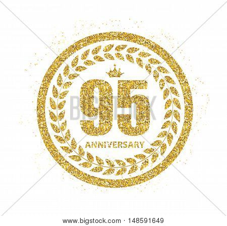 Template Logo 95 Years Anniversary Vector Illustration EPS10