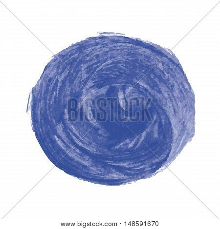 Abstract image of large blue spots round shape.