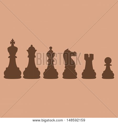 Vector Set Of Chess Silhouettes