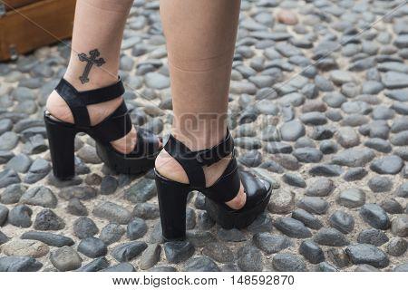 Detail Of Shoes At Milan Fashion Week