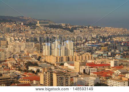 White Algiers, the capital city of Algeria