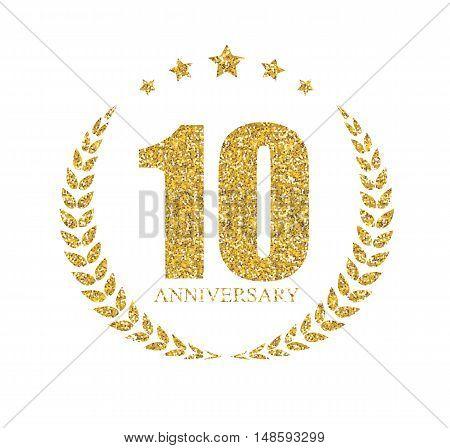 Template Logo 10 Years Anniversary Vector Illustration EPS10