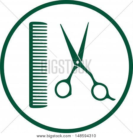Green Hairdresser Sign