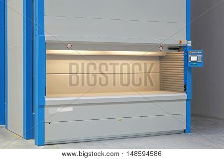 Automated Carousel Storage Shelving in Distribution Warehouse