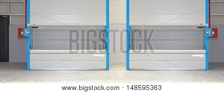 Automated Carousel Storage Shelf in Distribution Warehouse