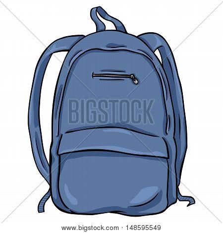Vector Cartoon Backpack