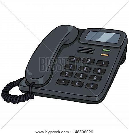 Vector Cartoon Office Phone