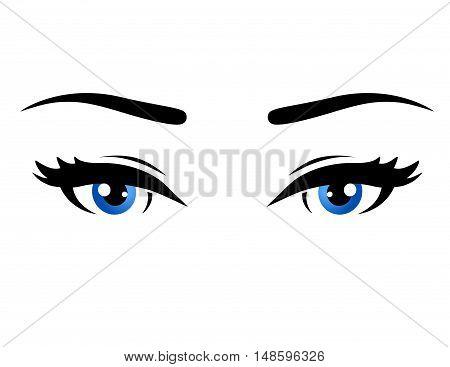 Blue Woman Eyes