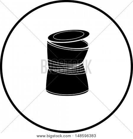 misshapen can symbol