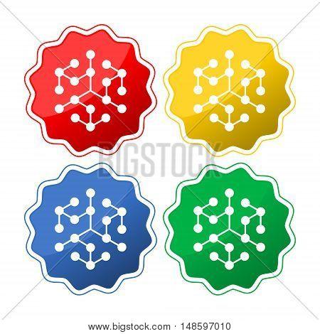 Concept of chemistry - vector illustration on white background