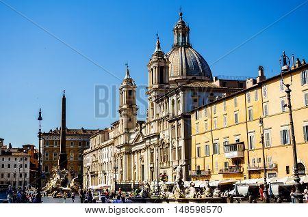 Navona Square (piazza Navona) In Rome, Italy
