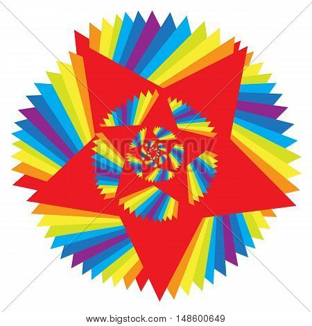 Colorful Abstract Psychedelic Art Background. Vector Illustration. EPS10