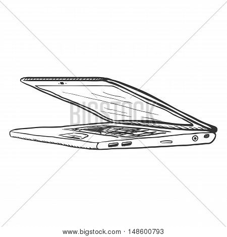 Vector Single Sketch Laptop
