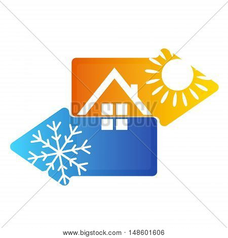 Symbol air conditioning for business vector design