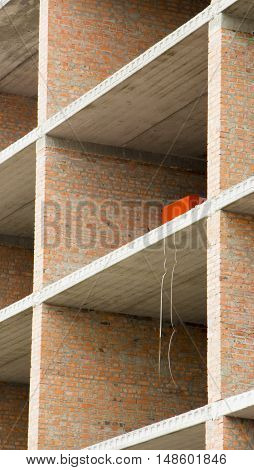 Construction Of Multi-storey Building With Brick Walls